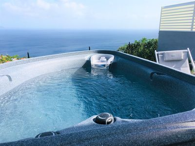 Photo for Palbea: sublime bungalow with spa panoramic sea views