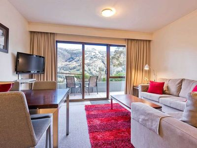 Photo for Charming apartment with private balcony and mountain views
