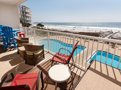 """Photo for """"Summer Place 305"""" Gorgeous Gulf front Unit! Amazing 180 degree views!!!"""