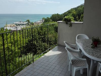 Photo for APARTMENT IN A SEAFRONT VILLA IN A PANORAMIC AND RELAXING POSITION