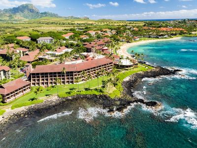 Photo for Oceanfront Sheraton Kaua'i. Gorgeous 2 bedroom thousands less than resort rates!