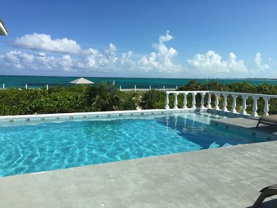 Photo for OCEANFRONT VILLA on Grace Bay Beach. Amazing Views, Pool, 4bd /4bt.Fab  Snorkeli