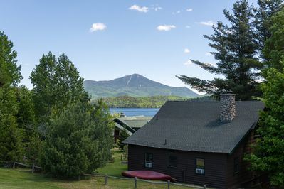 A great view from our resort, that's Lake Placid and Whiteface Mountain!