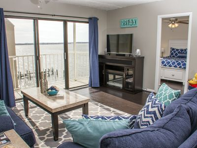 Photo for Next to Seacrets! Gorgeous Renovated Waterfront Condo - Pool & Grill!