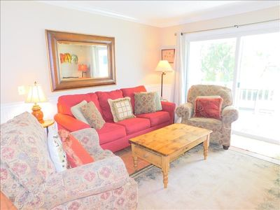 Photo for J2 Ocean Walk Resort is a two bedroom, two bath condominium that is upstairs.  Overlooks the large park and lake areas.  Unit has a king and a queen size bed.  Internet and 3 TVS.