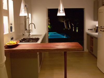 Photo for Ibiza holiday house overlooking the sea, amazing garden 10 minutes from downtown.