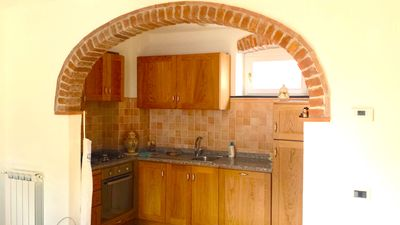 Photo for Cozy, renovated, 40 meters from the sea!3 air conditioned system,tv HD sofà,wifi