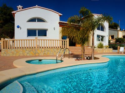 Photo for New Luxury South Facing Villa, Private Pool & Jacuzzi With Stunning Sea Views