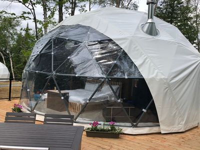 Photo for Mezzanine Dome at Bel Air Tremblant: 5 mins to Village, pool, tennis, Spa, Gym, Jacuzzi