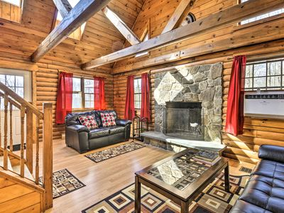 Photo for Secluded, Pet-Friendly Cabin w/Deck & Pool Access!