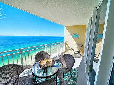 Photo for Beachfront condo. Stunning views. VERY NEAR Pier Park. Perfect for families.