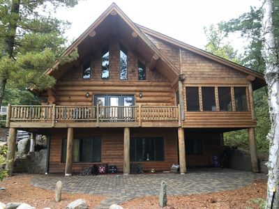 Photo for Log Cabin on beautiful Howard Lake.