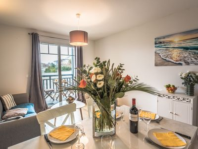 Photo for Cozy apartment offering an exceptional location - 1st sea line - swimming pool