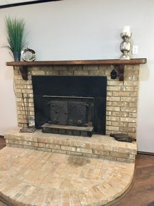 Fire place, perfect for cold weather!