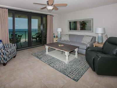 Photo for Gulf-front on 4th floor | Outdoor pool, BBQ grill, Wifi | Free dolphin cruise, fishing, OWA tickets