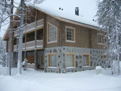 Photo for Relax and ski in a luxury log cabin in Lapland, Finland