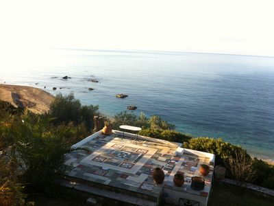 Photo for Villa Efelli: Beautiful seafront traditional Greek style villa, Ionian Coast