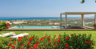 Photo for Villa Filira, 3 bdrms, in the Island of Crete, unobstructed views, infinity pool