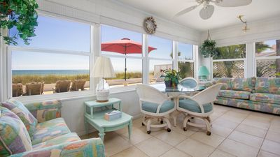 Photo for Gorgeous Sunroom With A View Of The Gulf! Right On The Water! PCB!