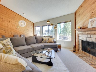 Photo for NEW LISTING! Beautiful condo w/deck, mountain & valley views- near golf & skiing