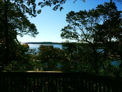 Southern facing deck overlooks Smith's Cove