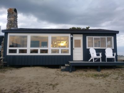 Photo for Driftwood Oceanfront Cottage at Popham Beach  Spectacular views from every room