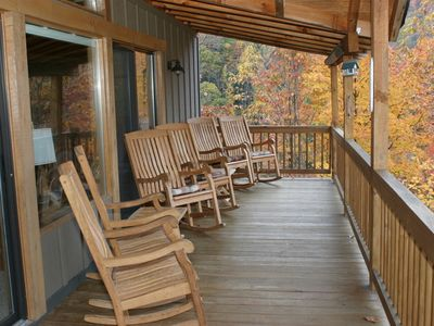 Photo for Buck Horn Lodge, Private, 3800' w/view of Maggie Valley, Grill!