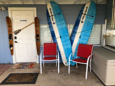 Lightweight paddle boards are ready to go!