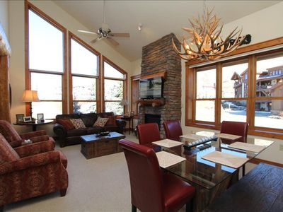 Photo for Luxurious Condo ski in/out. Hot tub! Walk to the slopes.