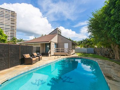 Photo for Kahala Cottage with Private Salt Water Pool