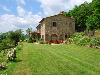 Photo for Villa with private pool and panoramic views on Tuscany/Umbria border