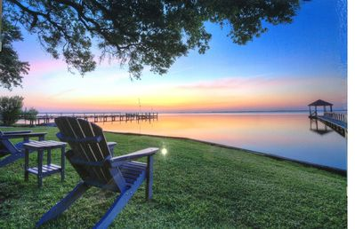 Photo for Beautiful Soundfront Home with Currituck Lighthouse View