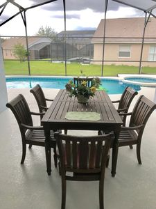 Photo for BEAUTIFUL HOME MINS TO DISNEY SOUTH FACING POOL/JAUCZZI