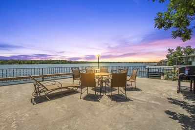 Upper boat dock patio with stunning views of Lake LBJ.