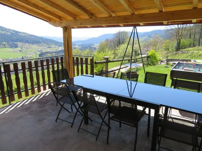 Photo for the yellow house covered terrace panoramic view 15 kms from gerardmer remiremont