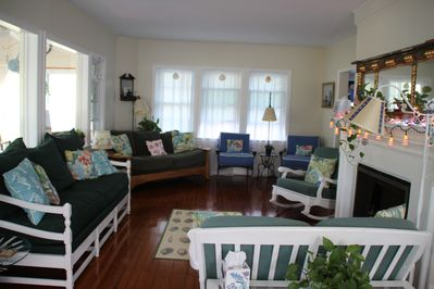 Plenty of seating in the spacious living room.