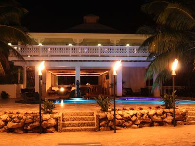Photo for Gulf Front, Key West Style Home Pool Hot Tub, Lush Tropical, Private, Romantic
