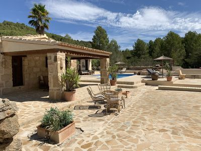 Photo for Rustic finca / villa Lliber / Pedreguer, pool and great views. Complete privacy.