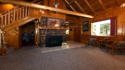Photo for *New Listing* Lone Pine Cabin! Rustic Cabin in a heavily wooded area!