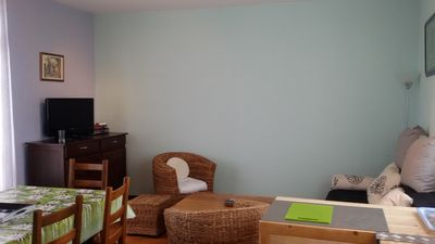Photo for 70m2 ground floor apartment 500m from the sea all indoor and outdoor comfort