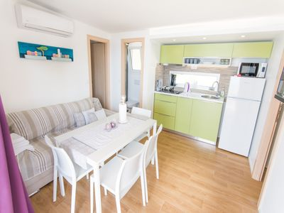Photo for Mobile home Biograd 1 directly on the beach