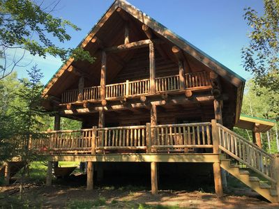 Photo for Stunning pine lodge, private & family-friendly, hiking, fishing, skiing