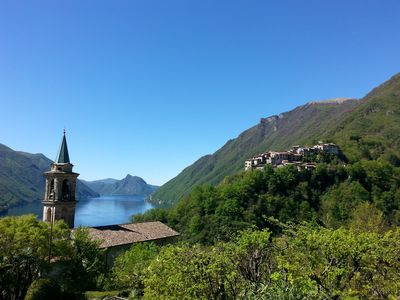 "Photo for ""The three sisters"" wonderful terrace view on lake Lugano"