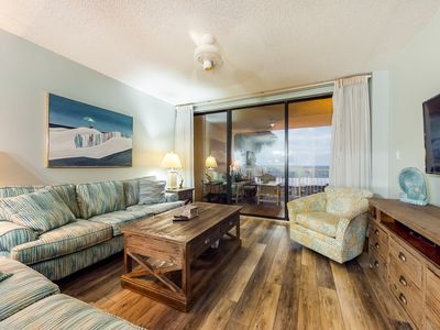 Photo for Remodeled, waterfront condo w/ stunning views, shared pools, sauna, & gym