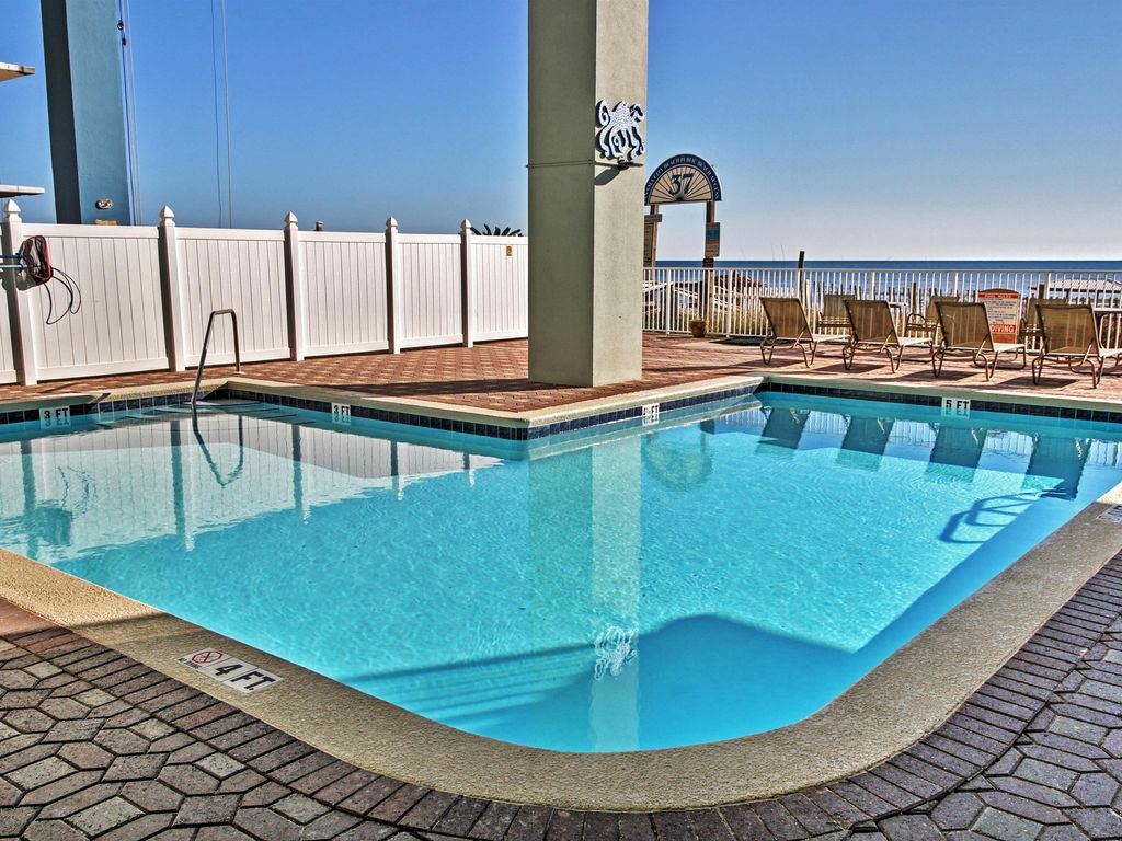 4br Beachfront Panama City Condo W Private Balcony Panama City Beach Florida Panhandle Florida