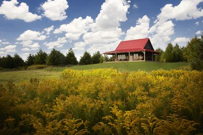 Sandhill Cabin, nestled on 350 acres in the wilderness in Mosel, Wisconsin