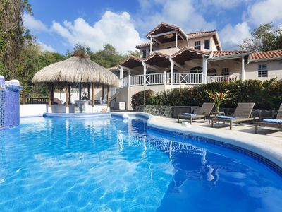 Photo for Fully-Staffed 5-Star Ocean View Villa, Walk to Beach, Large Groups, Weddings