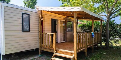 Photo for Camping L'Oasis & California **** - 4 room mobile home with air conditioning 6 people