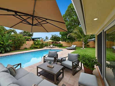 Photo for Heated Pool House near Deerfield Beach, Fully Remodeled minutes walk to beach