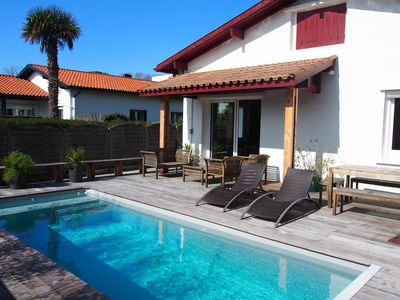Photo for Anglet House with heated pool - 10 people